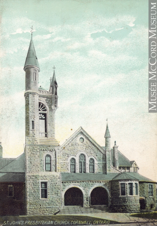 Print (photomechanical) | St. John's Presbyterian Church, Cornwall, ON, about 1910 | MP-0000.672.29